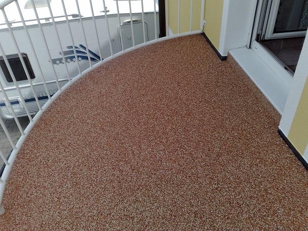 Bautenschutz Melcher Natursteinteppich Steinteppich Balkonbelag